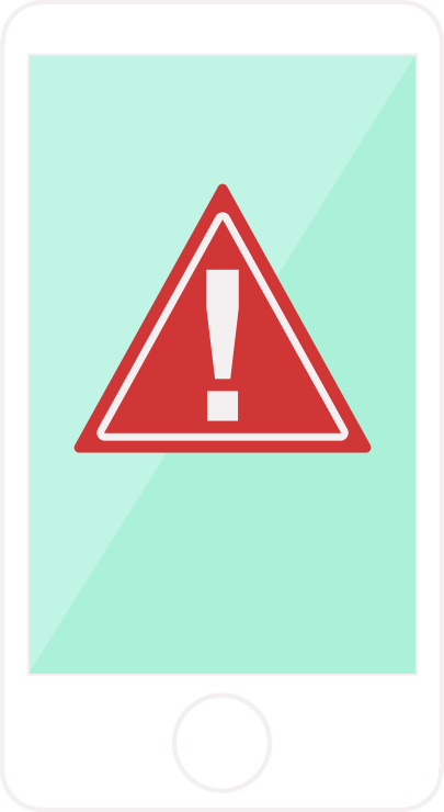 Phone with alert icon image