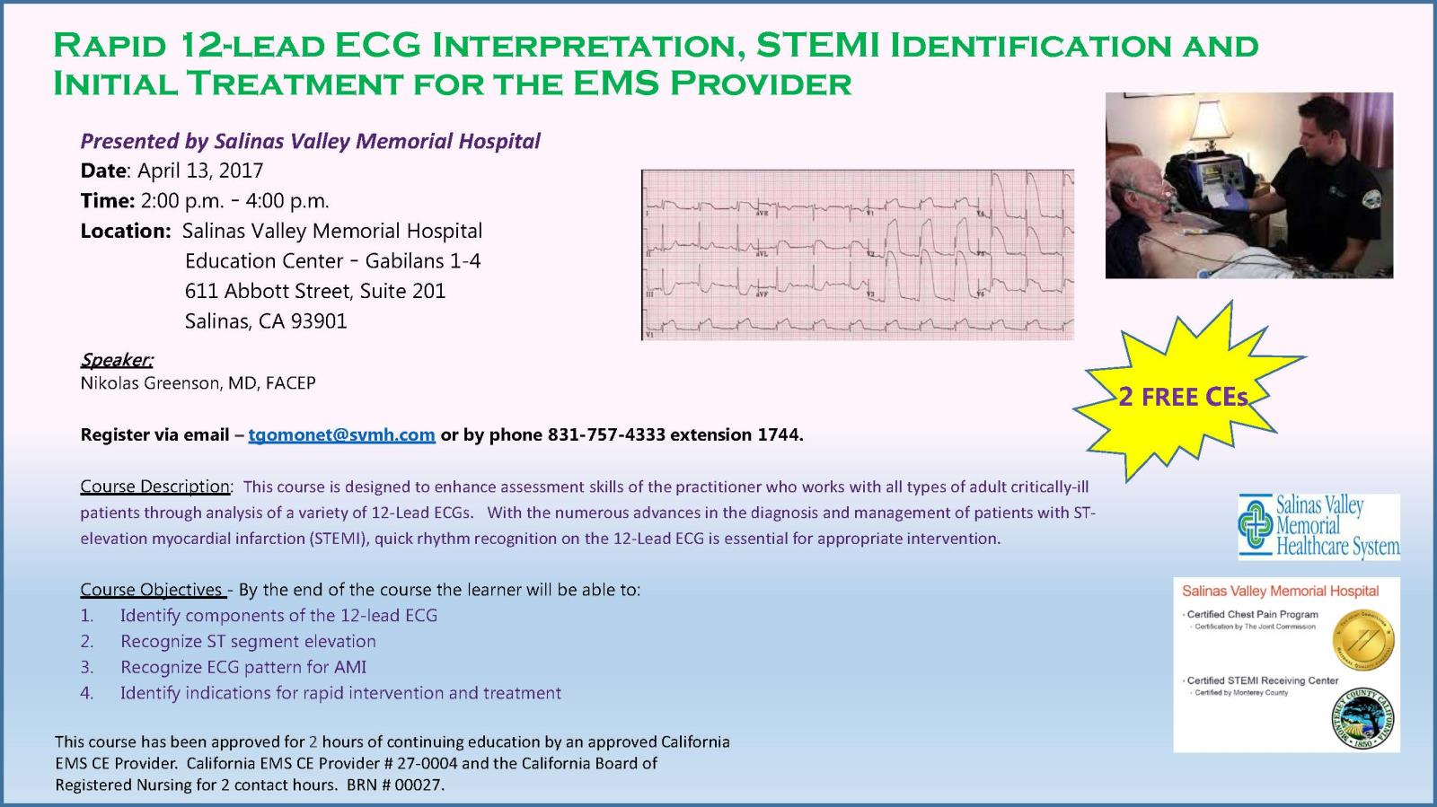 Rapid 12 Lead ECG Interpretation for the EMS Provider - April 13 2017