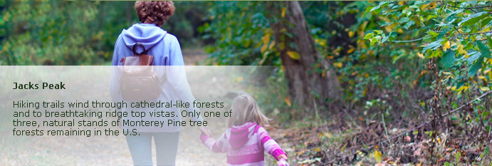 jacks peak page banner of adult and young girl walking