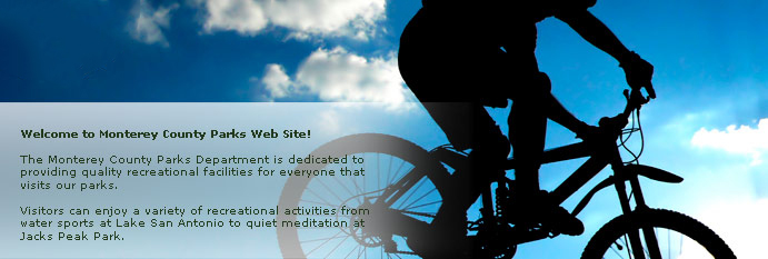 Main homepage banner of bike rider