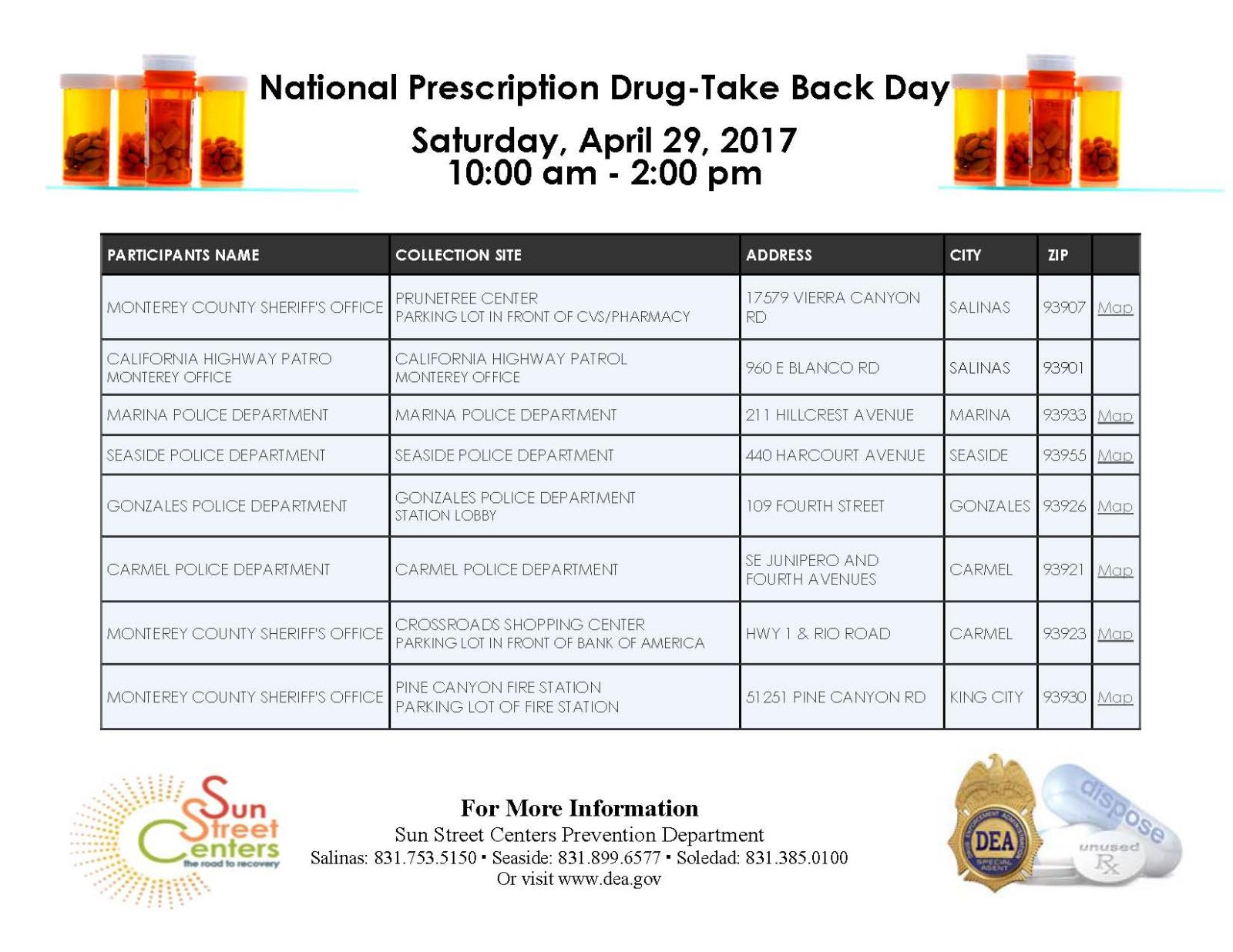 Prescription Take Back Day April 2017-1