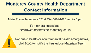 Health Department Contact Information