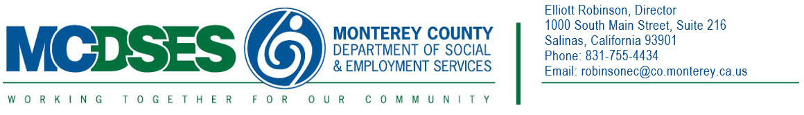 Monterey County Department of Social Services Logo