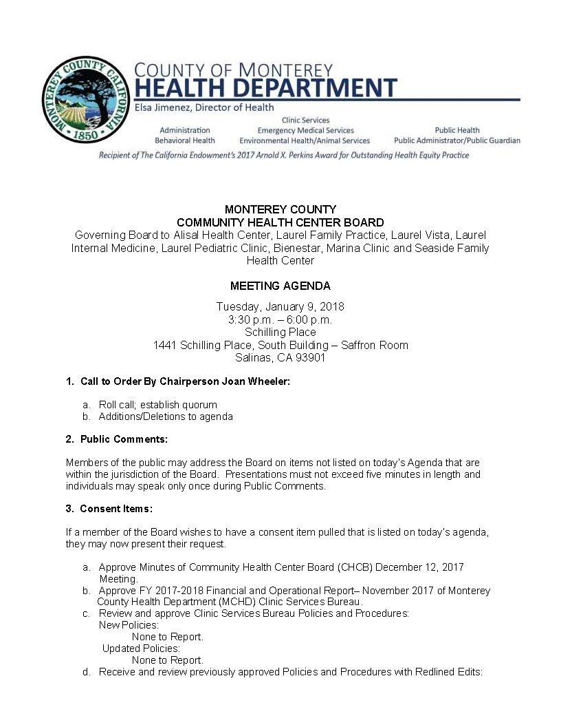 Monterey county ca news monterey county community health chcb agenda 1 9 18 publishpage1 xflitez Gallery