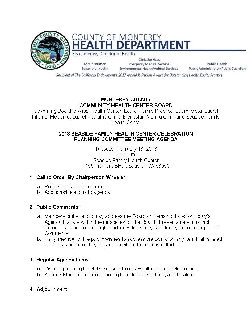 2018 Seaside Clinic Celebration Committee Agenda 2.13.18_Page_1