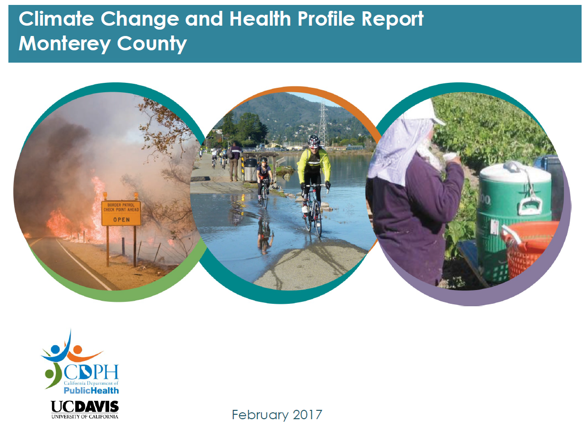 Cover of Climate Change and Health Profile Report - Monterey County CDPH