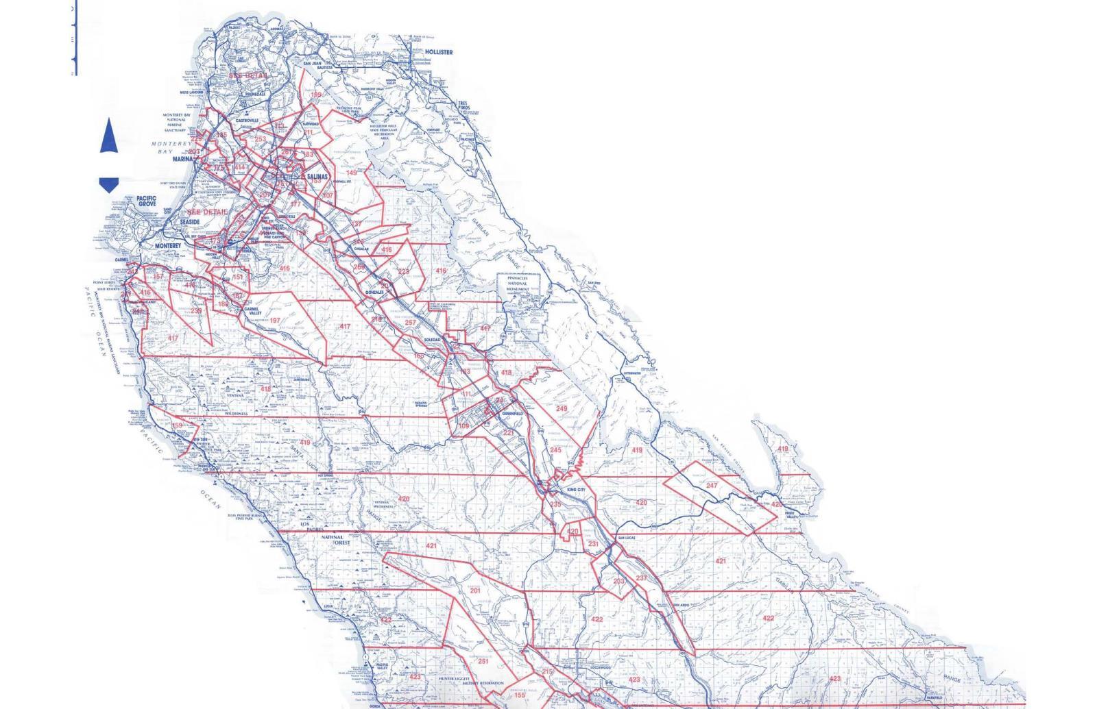Monterey County California Map.Monterey County Ca County Map