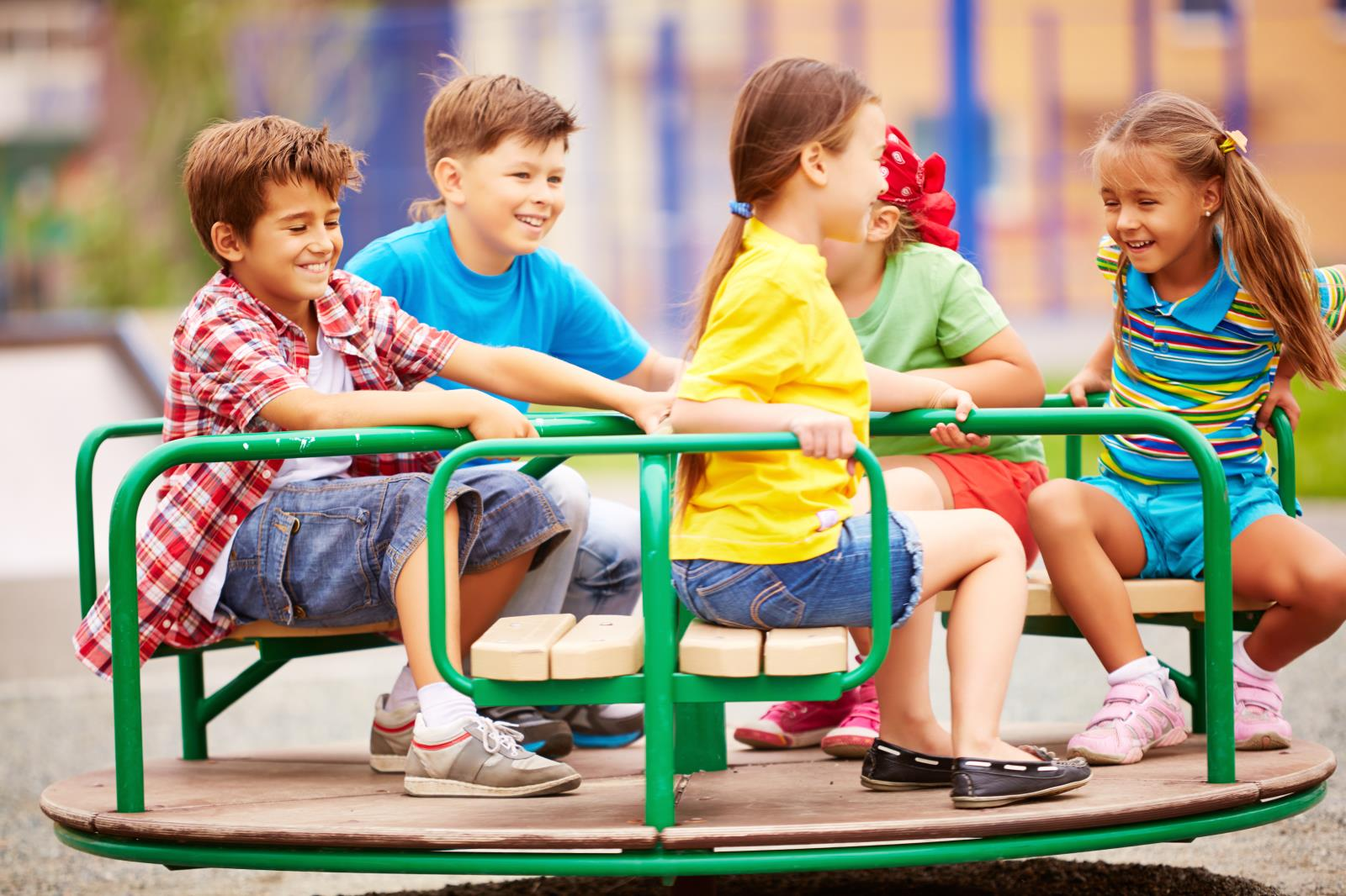 Kids on playground
