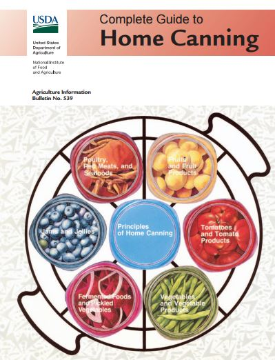 USDA guide to canning - cover