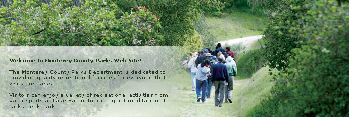 Main homepage banner of a group hiking