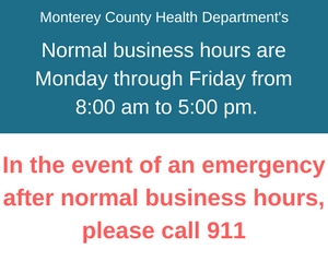 business hours emergency front page