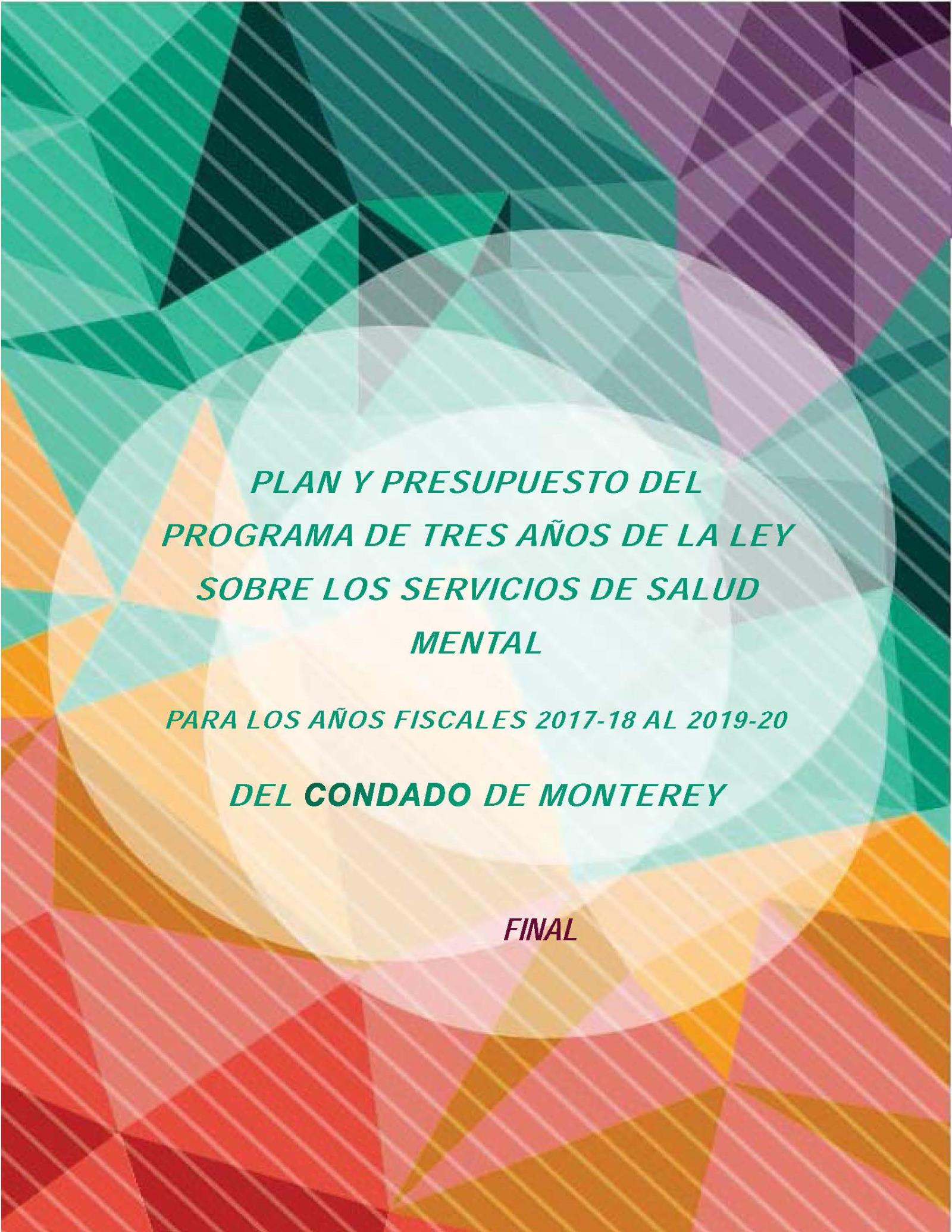 MHSA_FY18-20_3-YearPlan_FINAL_SPANISH cover