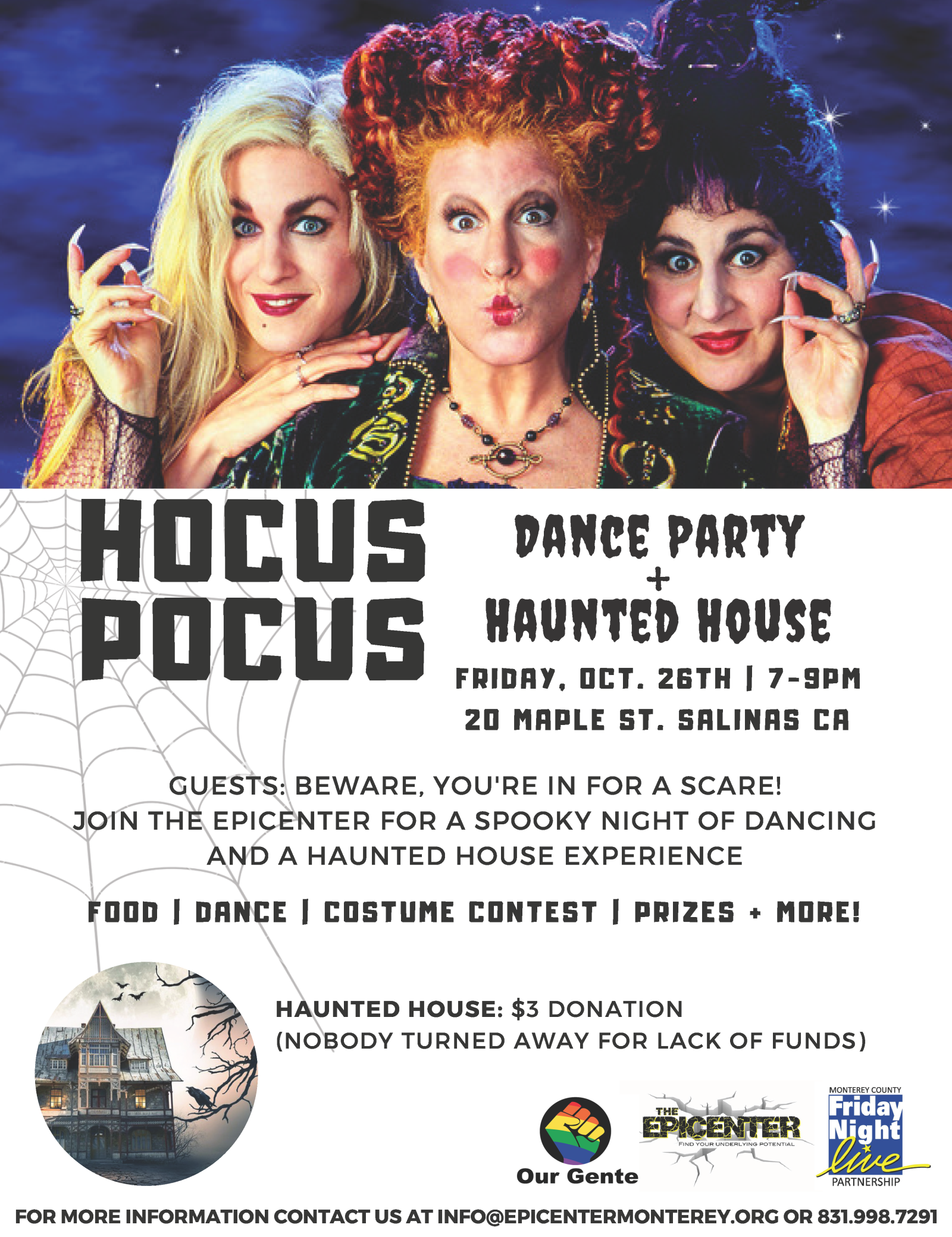 Hocus Pocus Dance Party & Haunted House | Calendar Meeting