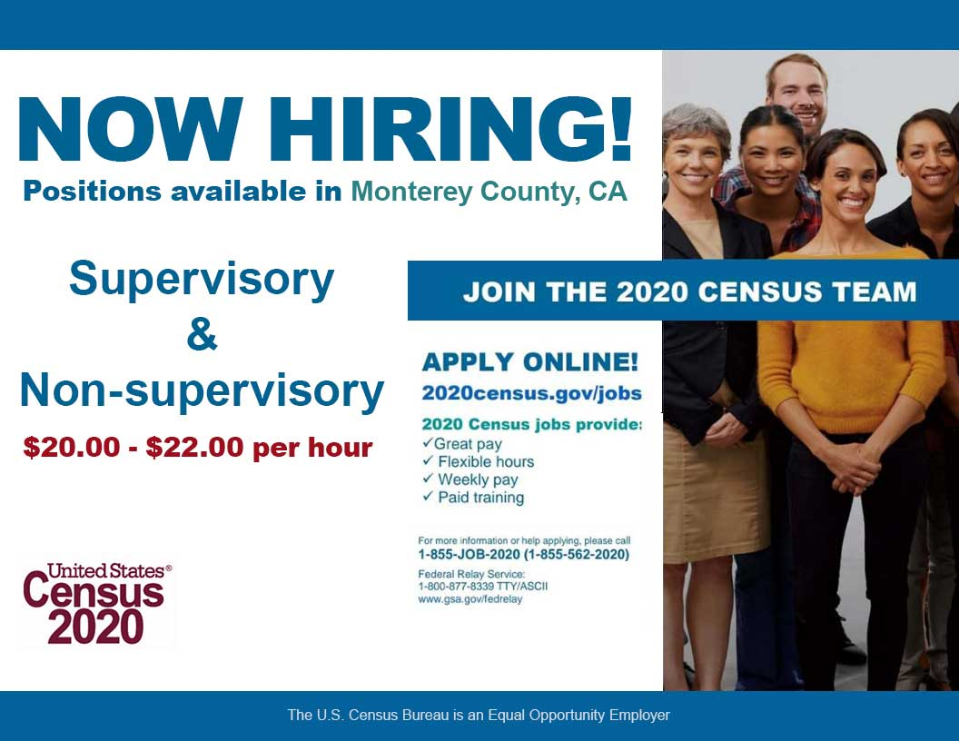 2020 Census Jobs in Monterey County