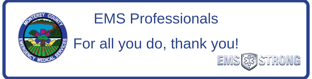 Thank you EMS Professionals
