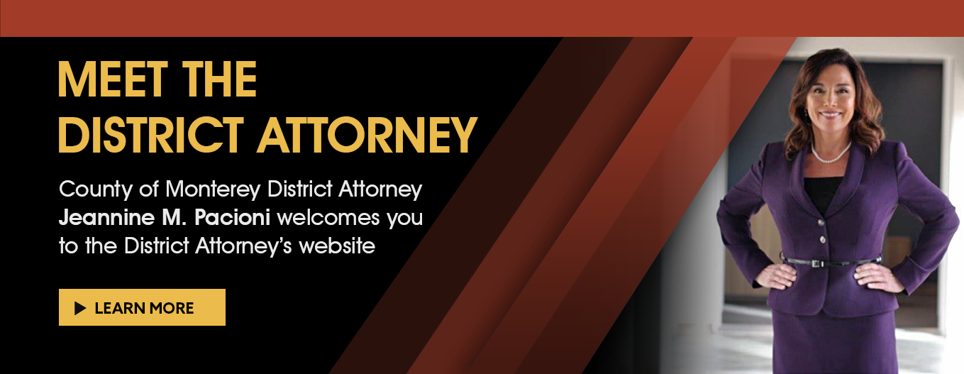 Meet the District Attorney select slide to learn more