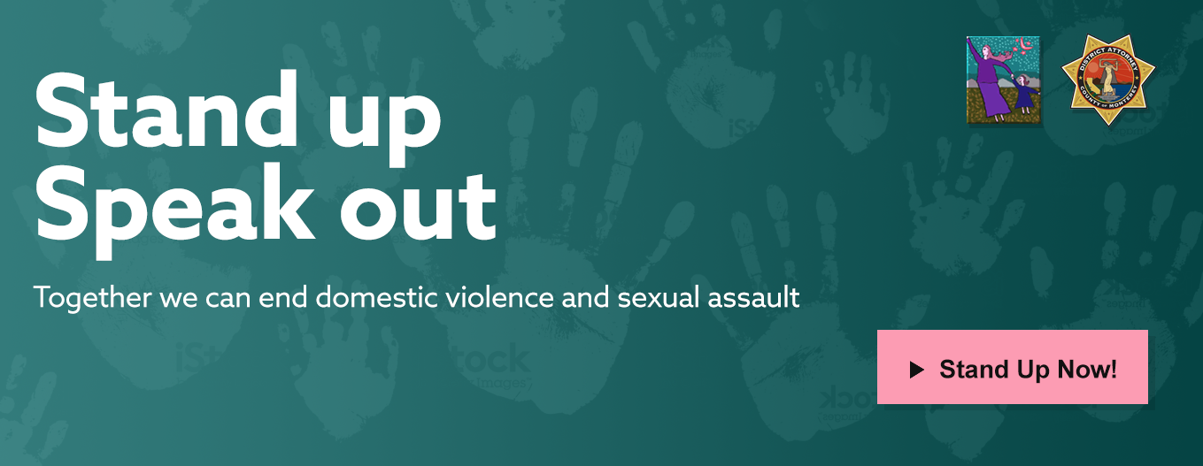 banner ad for against domestic violence