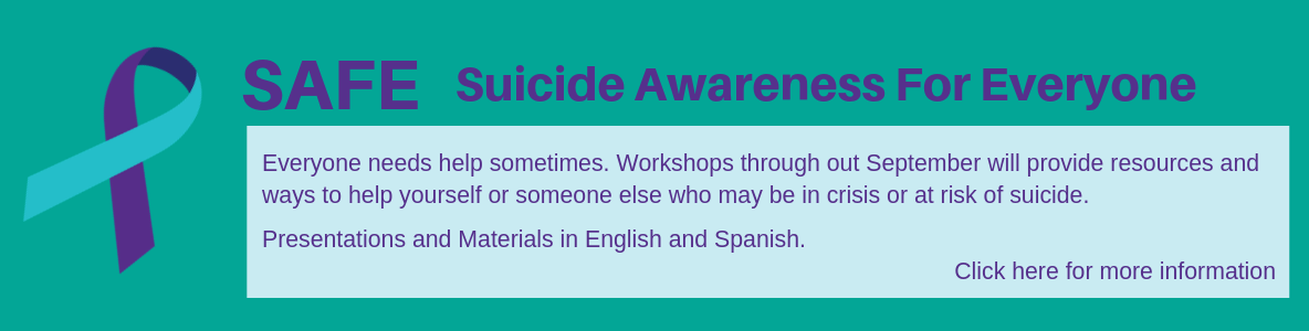 SAFE - Suiicide Awareness for Everyone