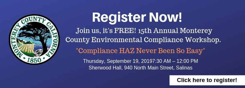 2019 Environmental Compliance Workshop - Click to Register