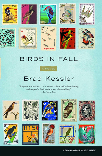 book cover Birds in Fall a novel by Brad Kessler