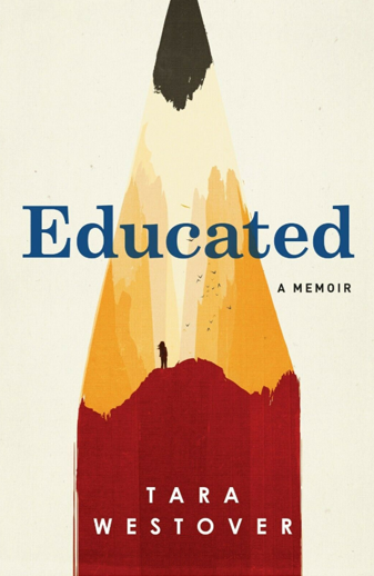 Book cover titled Educated: a memoir by Tara Westover