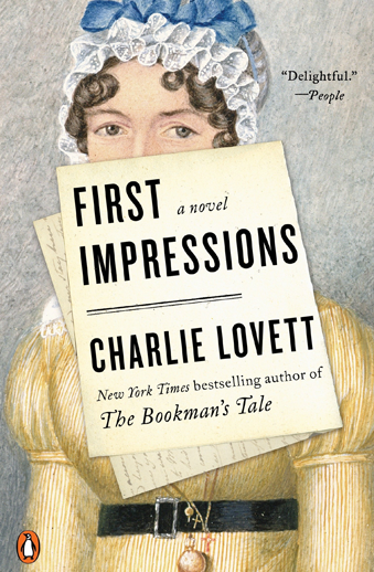 Book cover titled First Impressions by Charlie Lovett