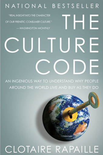 Book cover titled The Culture Code An Ingenious Way to Understand Why People Around the World Buy and Live as They Do by Clotaire Rapaille