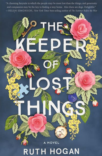 Book cover titled The Keeper of Lost Things: a novel by Ruth Hogan