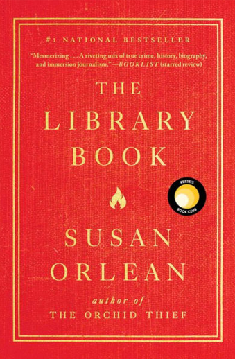 Book cover titled The Library Book by Susan Orlean
