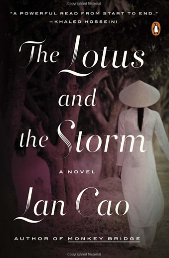 Book cover titled The Lotus and the Storm by Lan Cao