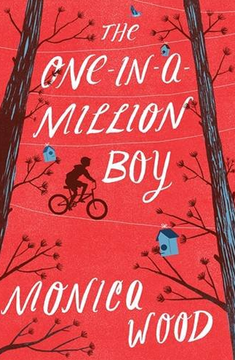 Book cover titled The One-in-a-Million Boy by Monica Wood