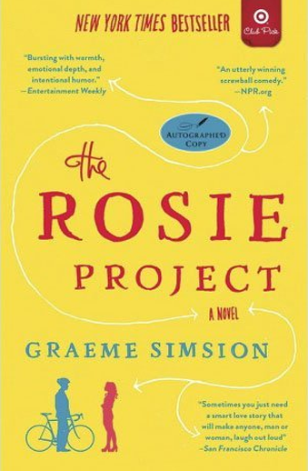 Book cover titled The Rosie Project: a novel by Graeme Simsion