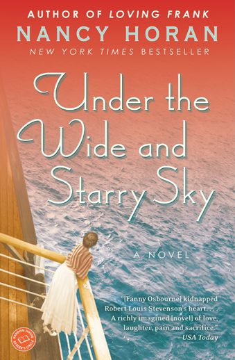 Book cover titled Under the Wide and Starry Sky: a novel by Nancy Horan