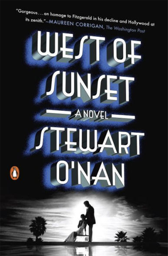 Book cover titled West of Sunset: a novel by Stewart O'Nan