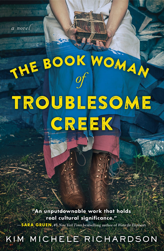 Book cover titled The Book Woman of Troublesome Creek: a novel by Kim M. Richardson