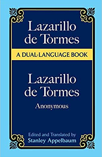 Book cover titled Lazarillo de Tormes by Anonymous Bilingual English-Spanish
