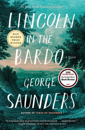 Book cover titled Lincoln in the Bardo by George Saunders