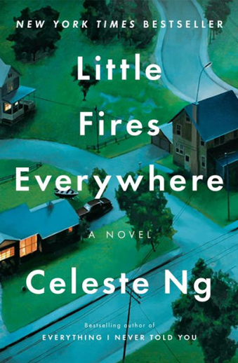 Book cover titled Little Fires Everywhere: a novel by Celeste Ng