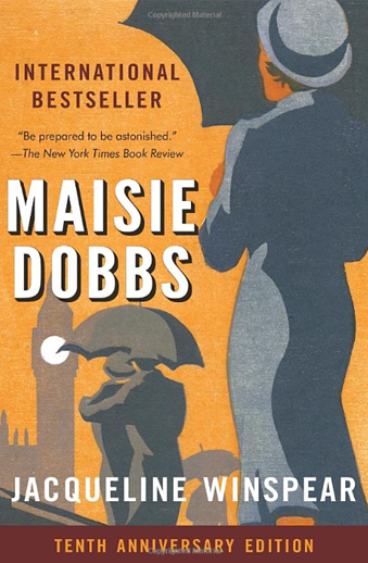 Book cover titled Maisie Dobbs: a novel by Jacqueline Winspear