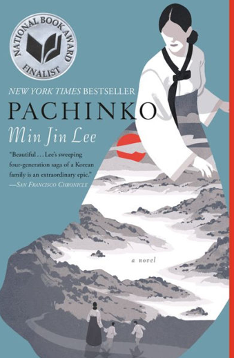 Book cover titled Pachinko by Min Jin Lee