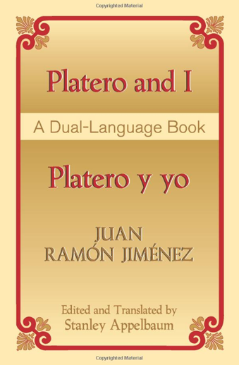 Book cover titled Platero and I - Platero y Yo by Juan Ramon Jimenez