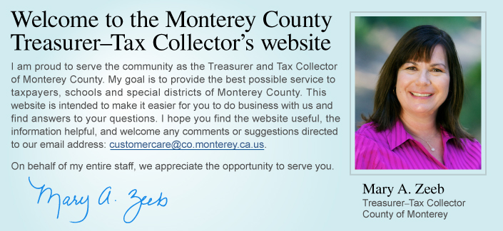 Welcome Tax Collector site slide