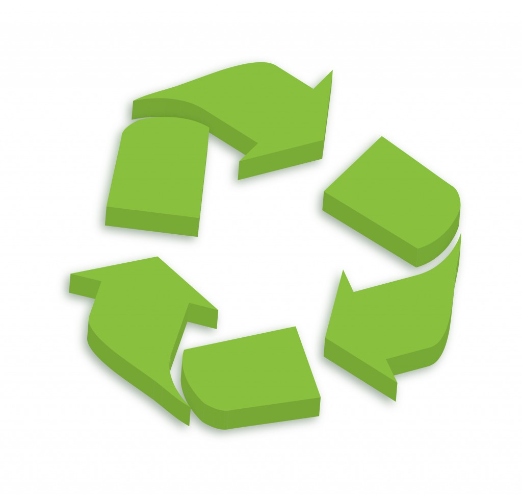 3D Recycling Logo