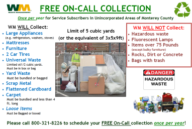 Residential Waste | Monterey County, CA