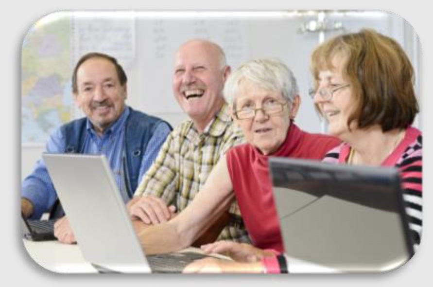 Seniors with computers