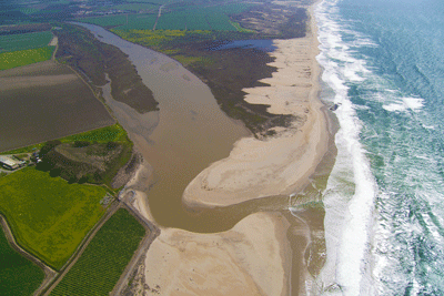 photo of the mouth of the Salinas River Lagoon