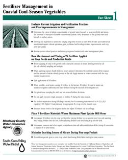 image of document Fertilizer Management in Coastal Cool Season Vegetables