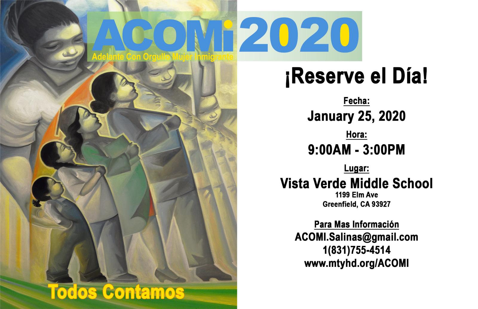 Adelante Con Orgullo Mujer Inmigrante Conference Acomi Monterey County Ca